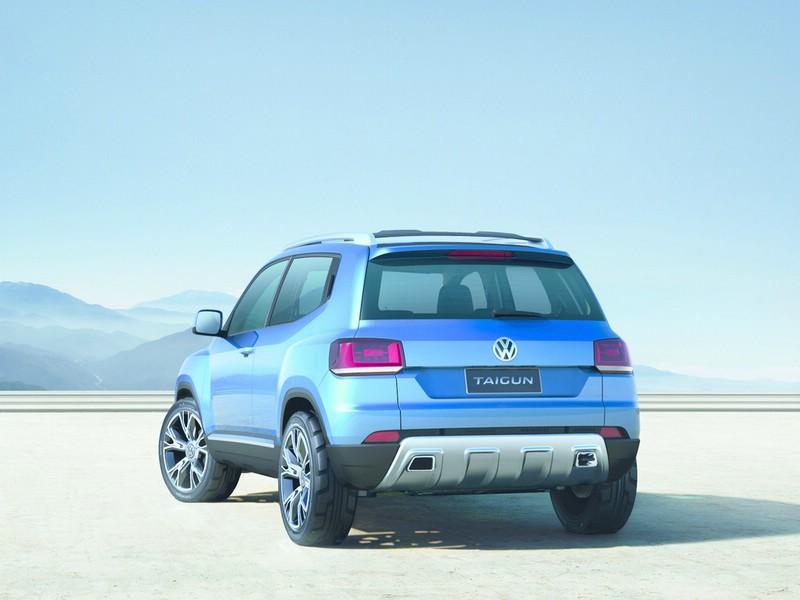 Die Heckpartie des VW Taigun