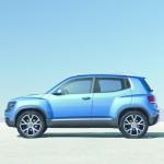 Die Seitenpartie des VW-SUV Taigun