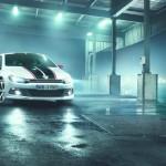 2012 er Volkswagen Scirocco GTS mit zweifarbigen Rennstreifen