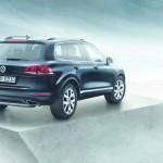 Die Heckpartie des VW Touareg-Sondermodells Edition X