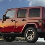 Jeep Wrangler Black Edition in der Heckansicht