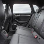 Die hinteren Sitze des Audi A3 Sportback - Lederausstattung