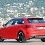 Die Heckpartie des Audi A3 Sportback 2013