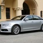 Silberner Audi A6 2012 (Standaufnahme)
