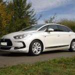 Testwagen Citroen DS5 Hybrid 4 in weiss