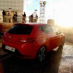 Neuer Seat Leon in Rot von hinten