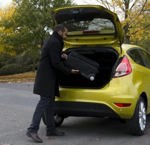 Der Kofferraum des 2013-er Ford Fiesta