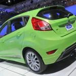 Grüner Ford Fiesta auf der Automesse in Los Angeles 2012