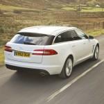 Die Heckpartie des neuen Kombis Jaguar XF Sportbrake
