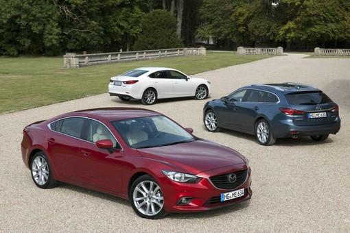 Der neue Mazda6 in verschiedenen Karosserievarianten