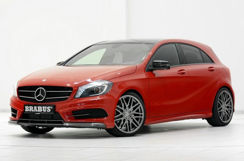 Roter Brabus Mercedes-Benz A-Klasse von der Seite