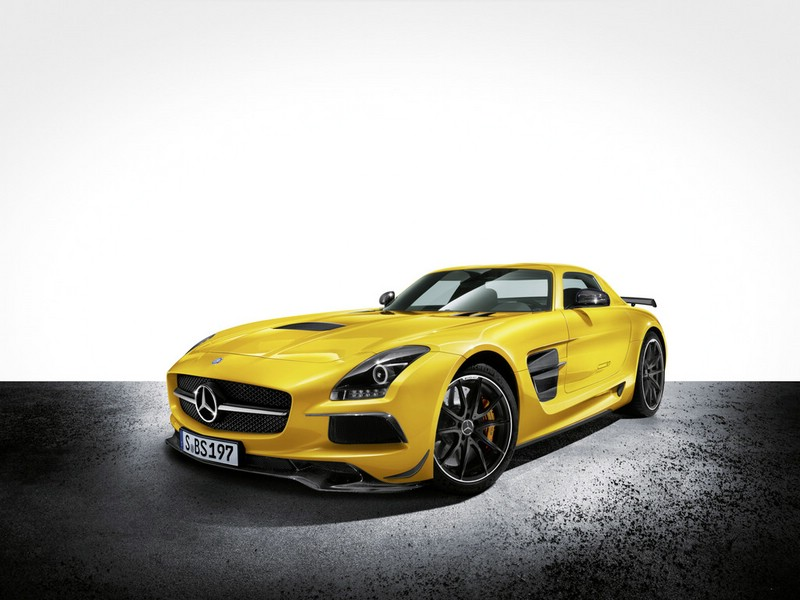 Gelber Mercedes-Benz SLS AMG Coupe Black Series