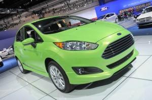 Ford Fiesta in Grün - Los Angeles Auto Show 2012