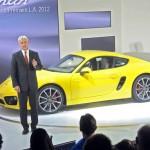 Neuer Porsche Cayman auf der Automobilmesse Los Angeles Auto Show 2012