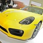 Die Frontpartie des Porsche Cayman Modelljahr 2013