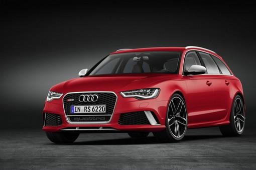 Roter Audi RS6 Avant Modell 2013