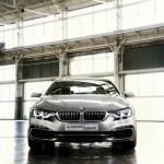 BMW 4er Coupe Concept in Silber in der Frontansicht