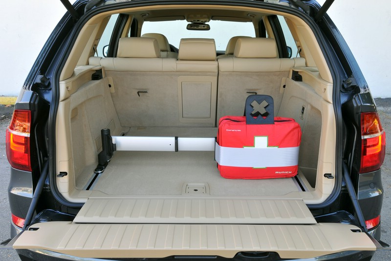 Der Kofferraum des BMW X5 xDrive40d Modelljahr 2010