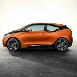 BMW i3 Concept Coupe in Orange in der Seitenansicht