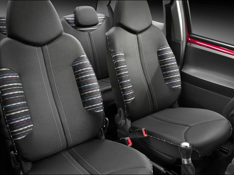 Die hinteren Sitze des Citroen C1