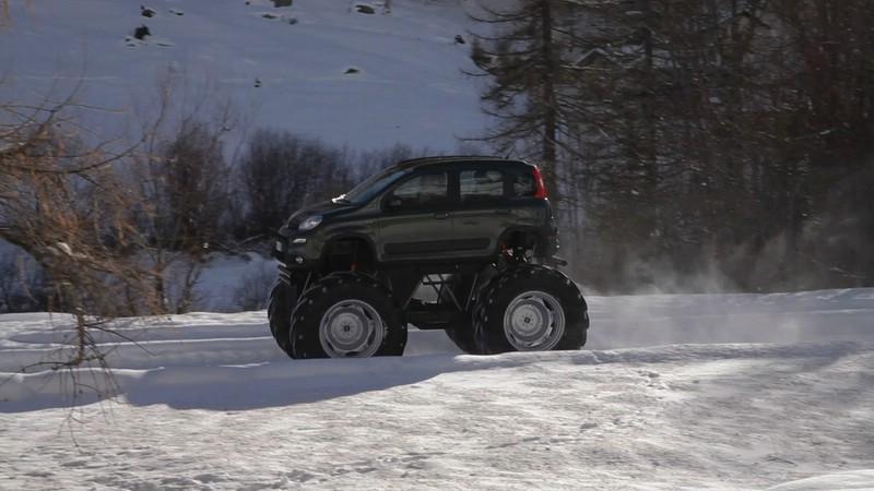 Der Allrad Fiat Panda Bigfoot in der Seitenansicht