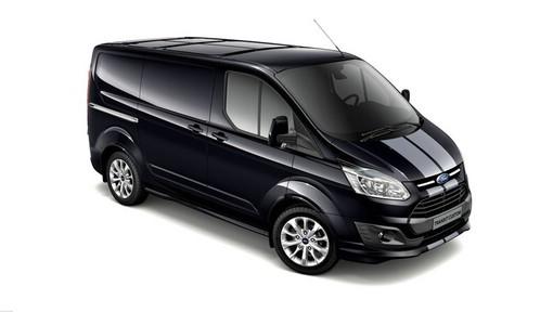 schwarzer Ford Transit Custom Sport Modelljahr 2013