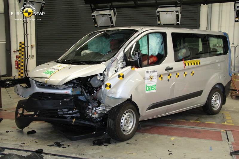 Ford Transit Custom mit 5 Sternen beim Crashtest