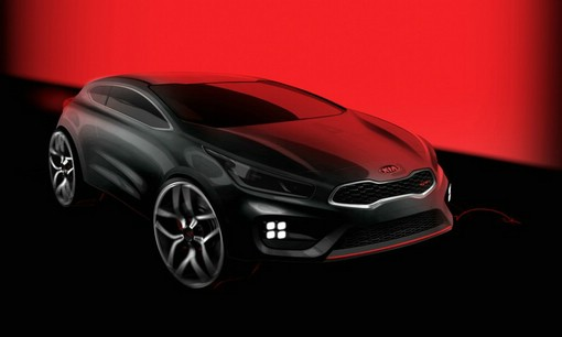 Kia Ceed GT in schwarz als Skizze