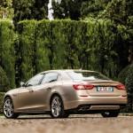 Die Heck und Seitenpartie des Maserati Quattroporte