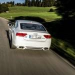 Der Abt Audi AS5 Sportback in Weiss in der Heckansicht