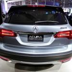 Die Heckansicht des Acura MDX-Protoyp