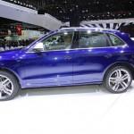 Der neue Audi SQ5 in Blau auf der NAIAS