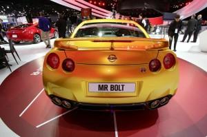 Nissan Usain Bolt Gold GT-R Limited Edition auf der Detroit Autoshow 2013