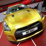 Die Nissan Usain Bolt Gold GT-R Limited Edition auf der Detroit Auto Show 2013