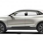 Die Seitenansicht des Lincoln MKZ Concept Cars