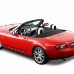 Seiten und Heckansicht des Mazda MX-5 3rd Generation (Farbe Tornado-Rot-Metallic)