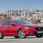 Neuer (2013) Mazda6 2.2 Skyactiv-D in Rot in der Front Seitenansicht