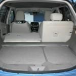 Der Kofferraum des Elektroautos Nissan Leaf
