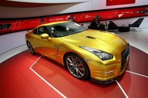 Nissan Usain Bolt Gold GT-R Limited Edition auf der Detroit Motor Show 2013