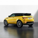 Die Heckpartie des Range Rover Evoque Yellow Edition