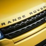 Der Kühlergrill des Range Rover Evoque Yellow Edition