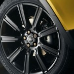 Die Felgen des Range Rover Evoque Yellow Edition