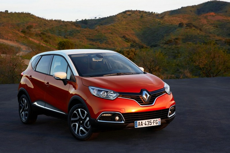 Die Frontansicht des Renault Captur