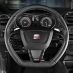 Das Lenkrad des Seat Ibiza Cupra