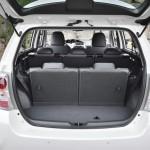 Der Kofferraum des Toyota Verso (Modelljahr 2013)