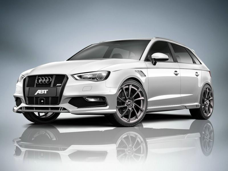 Abt Audi AS3 Sportback 2013 in der Front- Seitenansicht