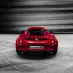 Die Heckpartie des Alfa Romeo 4C (Rot, Baujahr 2013)
