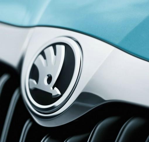 Das Logo der Automarke Skoda