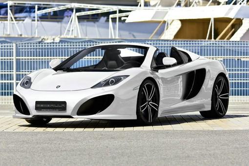 Gemballa GT Spider in weiss. Basis ist der McLaren 12C Spider