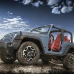 Die Seitenansicht des Jeep-Wrangler Rubicon 10th Anniversary Edition